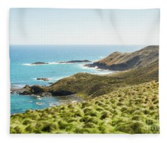 Cliffs And Capes Fleece Blanket