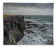 Cliffs At Arnarstapi Fleece Blanket