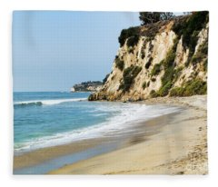 Cliffs At Paradise Cove Fleece Blanket