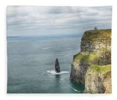 Cliffs Of Moher 3 Fleece Blanket