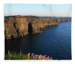 Cliffs Of Moher In Evening Light Fleece Blanket