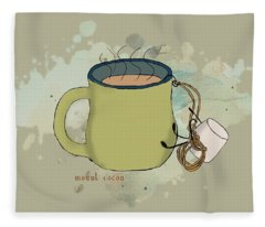 Climbing Mt Cocoa Illustrated Fleece Blanket