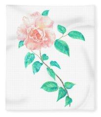 Climbing Rose Fleece Blanket