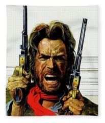 Clint Eastwood As Josey Wales Fleece Blanket