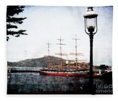 Clipper Ship Fleece Blanket