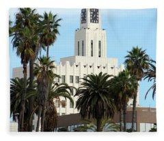Clock Tower Building, Santa Monica Fleece Blanket