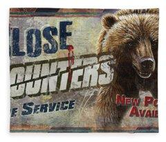Close Encounters Bear Fleece Blanket
