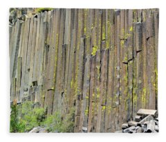 Close-up Devils Postpile Fleece Blanket