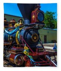 Close Up Glenbrook Train Fleece Blanket