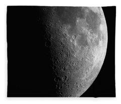 Close-up Of Moon Fleece Blanket