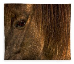 Closeup Of An Icelandic Horse #2 Fleece Blanket