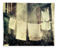 Clothes Hanging Fleece Blanket