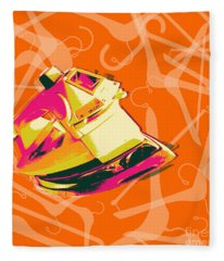 Clothes Iron Pop Art Fleece Blanket