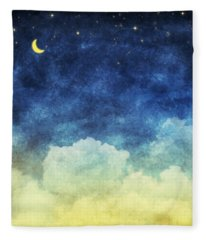 Cloud And Sky At Night Fleece Blanket