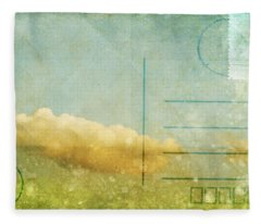 Cloud And Sky On Postcard Fleece Blanket