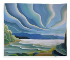 Cloud Forms Fleece Blanket