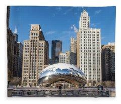 Cloud Gate To Chicago Fleece Blanket