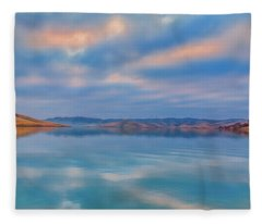 Cloud Reflection At Sunrise Fleece Blanket