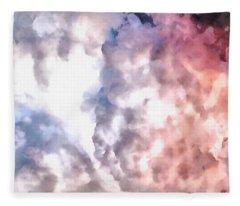 Cloud Sculpting 3 Fleece Blanket