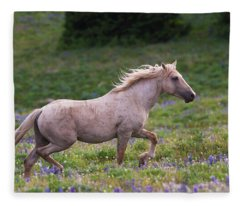 Cloud- Wild Stallion Of The West Fleece Blanket