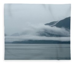 Cloud-wreathed Coastline Inside Passage Alaska Fleece Blanket