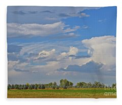 Clouds Aboive The Tree Farm Fleece Blanket