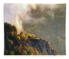 Clouds Above The Crest Of The Mountain Fleece Blanket