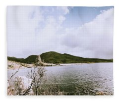 Clouds And Calm Waters Fleece Blanket