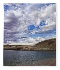 Clouds And Ripples Fleece Blanket