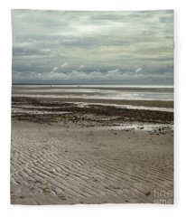 Clouds And Sun At Mayflower Beach Fleece Blanket
