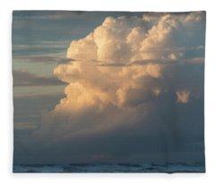 Clouds And Surf Fleece Blanket
