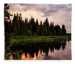 Clouds At Sunset Fleece Blanket