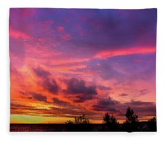Clouds At Sunset Fleece Blanket