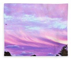 Clouds Mares At Sunset Fleece Blanket