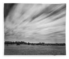 Fleece Blanket featuring the photograph Clouds Moving Over East Texas Field by Todd Aaron