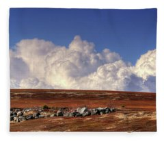 Clouds Over Blueberry Barren Fleece Blanket