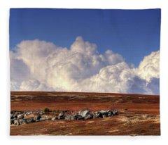 Clouds Over Blueberry Barren Fleece Blanket