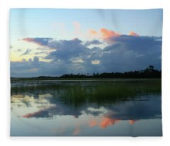 Clouds Over Marsh Fleece Blanket