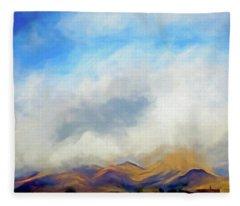 Clouds Over The Desert 5 Fleece Blanket