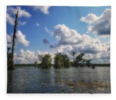 Clouds Over The Louisiana Bayou Fleece Blanket