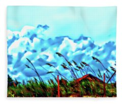 Clouds Over Vilano Beach Fleece Blanket