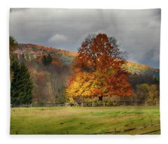 Clouds Part Over Marsh Billings-rockefeller Nhp Fleece Blanket