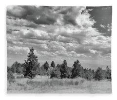 Clouds Roll In Fleece Blanket