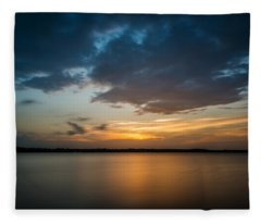 Fleece Blanket featuring the photograph Cloudy Lake Sunset by Todd Aaron