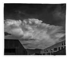 Cloudy Sky Over Bolzano Fleece Blanket