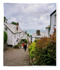 Clovelly High Street Fleece Blanket