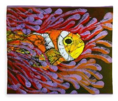 Clownfish I  Fleece Blanket