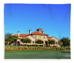 Clubhouse At Tpc Sawgrass Fleece Blanket