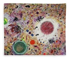 Fleece Blanket featuring the painting Cluster Of Love by Michael Lucarelli
