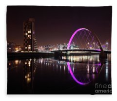Clyde Arc Night Reflections Fleece Blanket